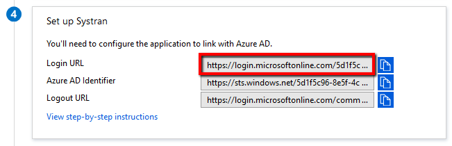 SPN9] - Integration of SAML SSO with Azure AD – SYSTRAN